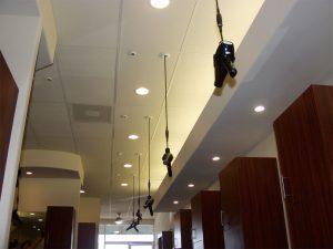 2 blowdryers in ceiling