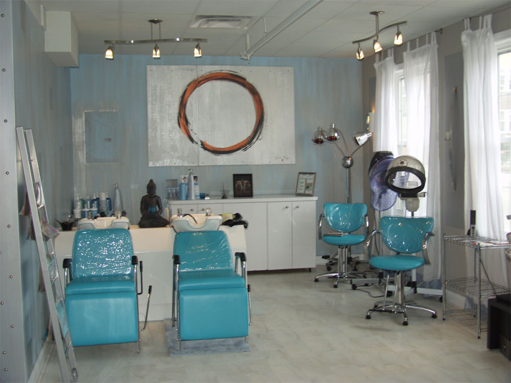 Salon galleries aqua hair studio spa for Look 4 design salon