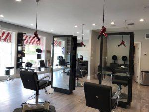 1 Klickers Hair Studio suspended hair dryers
