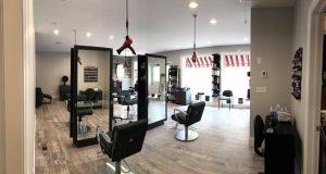 2 Klickers Hair Studio suspended hair dryers