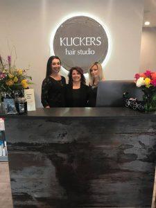 3 Klickers Hair Studio suspended hair dryers
