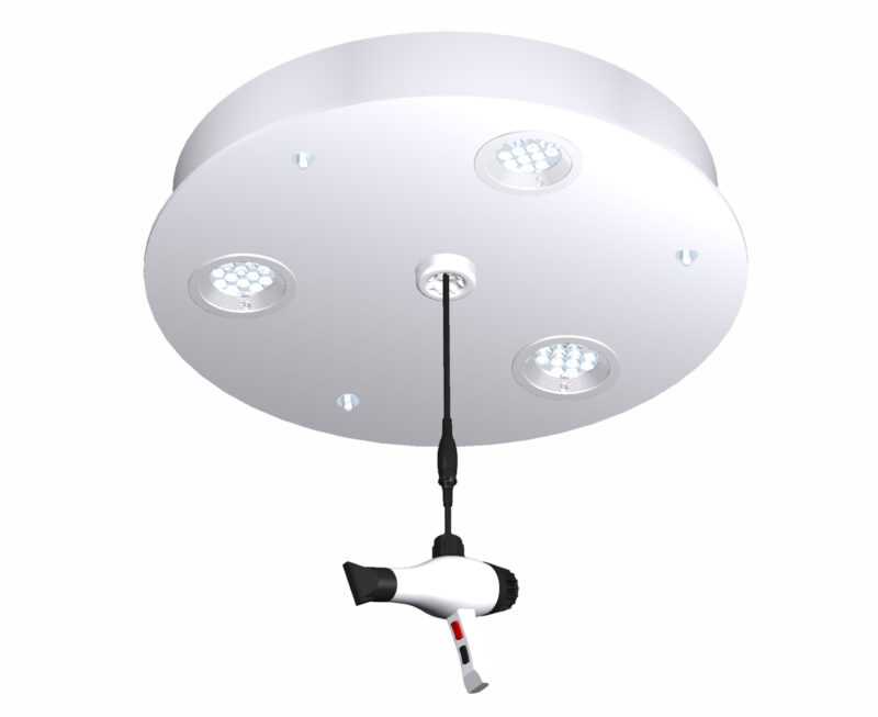 LP02.3 White light platform. Perfect beauty salon lighting
